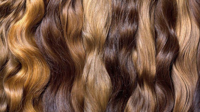 extention di capelli veri colori diversi