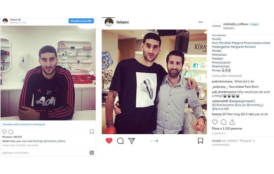 fellaini post su instagram