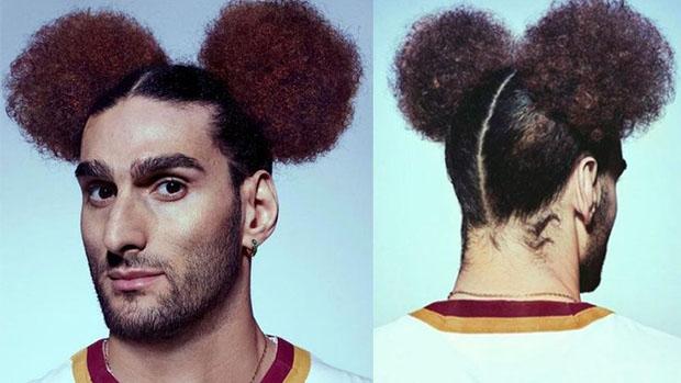 Fellaini con capelli da Topolino